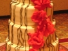 cake with ravel roses