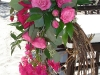grape vine wreath and pink roses