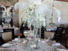 Great Gatsby Look with Orchids, Plumes, Hanging Pearls, Roses