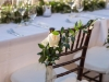 Roses and Greenery on Wedding Chairs