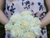 Bridesmaids Bouquet with Hydrangea and White Mondial Garden Roses