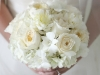 Bride with White Peonies Bridal Bouquet