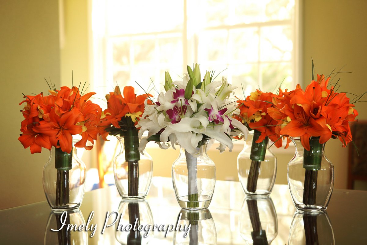 lily and orchid bridal bouquets