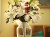 White lily bridal bouquet with purple orchids g Photos
