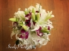 White lily purple orhcid bridal bouquet