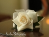 Ivory rose corsage