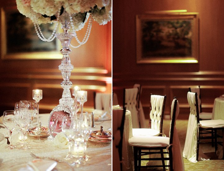 Wedding Details - Candles, pearls, chairs