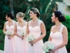 Bridesmaids with Hydrangea and Blush Roses