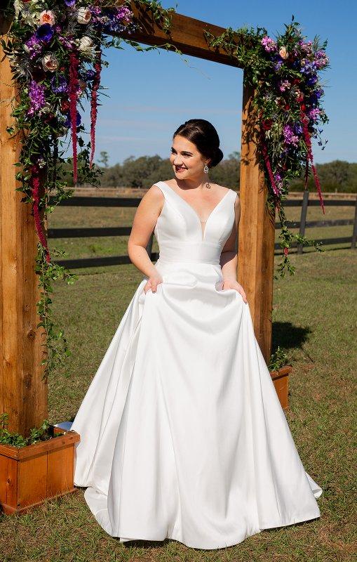 Bride Under the Wedding Arch