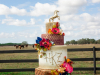 Equestrian Themed Wedding Cake