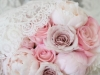 Bridal Bouquet with Pink Peonies, Roses in Shades of Soft Pink