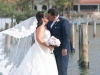 Bride and Groom on Dock at Sarasota Hyatt Regency