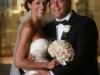 bride with rose bridal bouquet