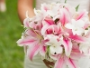 Bride's Bouquet with Pink Lilies and White Orchids