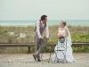 Bride and groom, Siesta Dunes