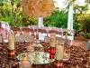 Topiary wedding centerpiece