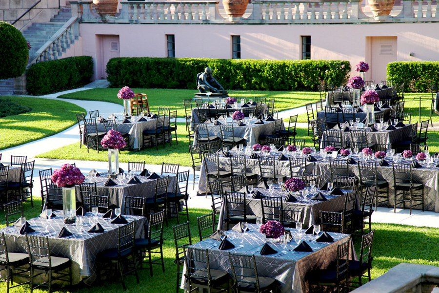 Ringling-courtyard-wedding-reception-in-silver-and-purple