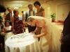 bride signing book