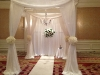 Gorgeous chuppah with chandelier