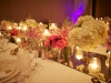 Feasting tables with mirror runners and candles