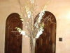 vase -curly willow -white dendrobium orchids