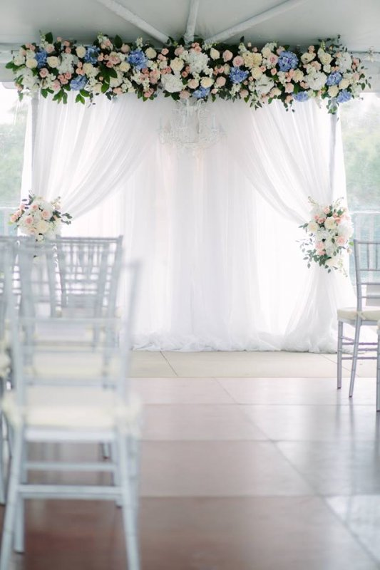Arch with Florals Across the Top