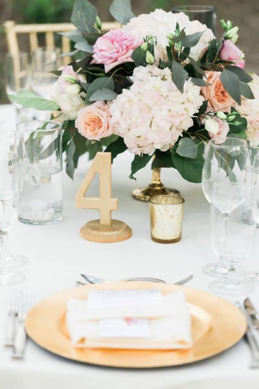 Close Up of Garden Look Guest Table Centerpiece