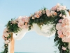 Close Up of Cedar Arch with Flowers