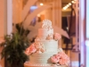 Beautiful Wedding Cake with Peach Roses