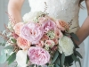 Gorgeous Bridal Bouquet with Pink and Peach Roses
