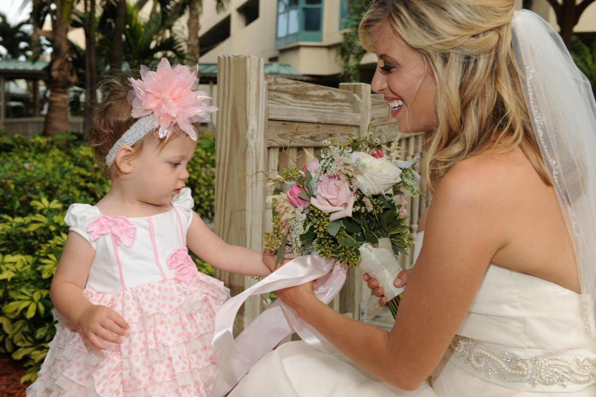 Precious Flower Girl with Bride