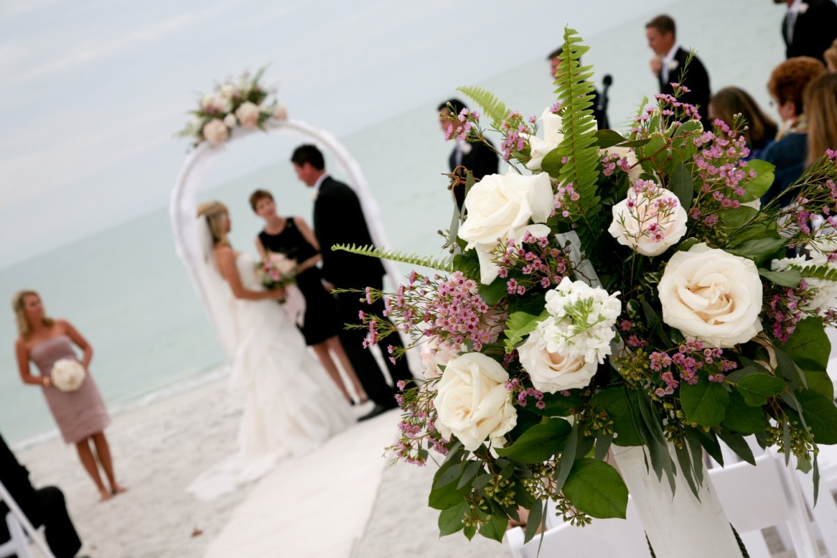 Wedding Arch on Lido Beach