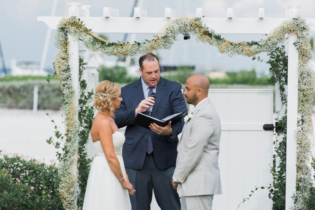 Gazebo for Wedding Ceremony with Baby's Breath Garland