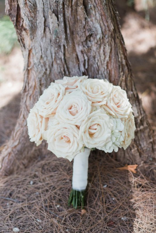 Hydrangea with Quicksand Roses