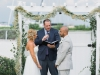 Gazebo for Wedding Ceremony with Baby's Breath Garland