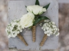 Boutonniere Baby's Breath and Double Spray Roses