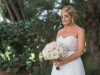 Bridal Bouquet With White Hydrangea and Quicksand Roses