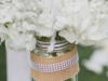 Hydrangea and Baby's Breath in Shepherd Hooks