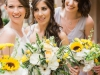 Part of Bridal Party with Bouquets