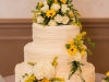 Cake with Sunflowers and Roses