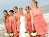bride-and-bridesmaids-white-coral-roses