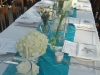 Weddign centerpiece with calla-hydrange-garden-roses-spray-roses