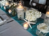 Weddign centerpieces with shell-theme-