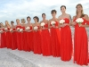 bridesmaids-in-red-dress-with-white-roses