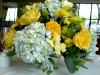 Blue and Yellow Centerpiece in stunning revere bowl