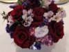 Stunning Mixed Garden Look with black magic roses in silver revere bowl
