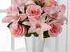 Spring Garden Bouquet with pink roses and lilies