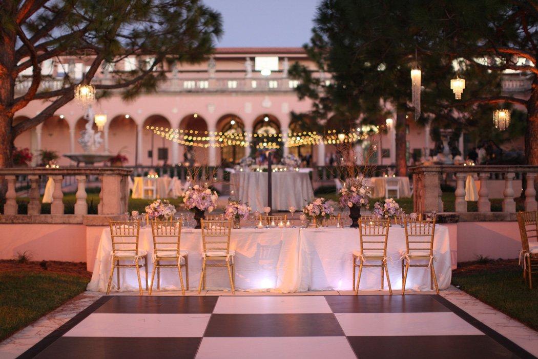 Pastel Colors Set The Scene At Ringling Courtyard Sarasota Wedding