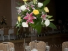 Elevated Centerpiece Arrangement with lilies with the garden roses