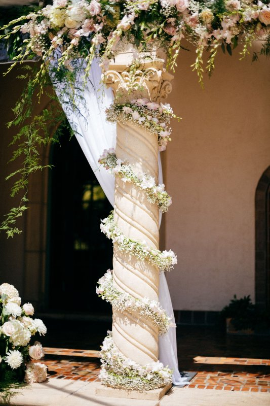 Garland on the Columns with Marco Polo Orchids Nested into
